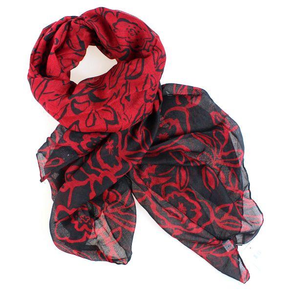 Damen schal Tuch<br>HALSTUCH 9D0154 Rot