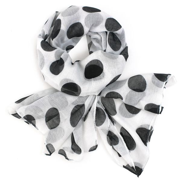Ladies scarf shawl<br>SCARF 9D0155 White