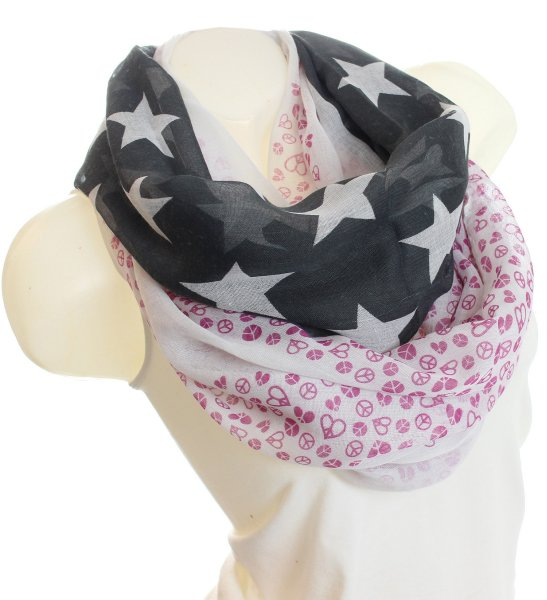 Ladies Loop scarf<br> scarf good quality<br>9D0031Schwarz