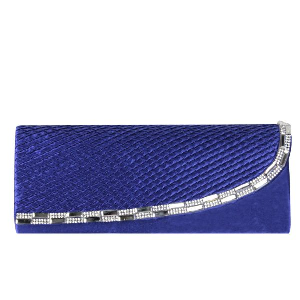 Evening bag ladies<br> good quality T0007<br>Blue