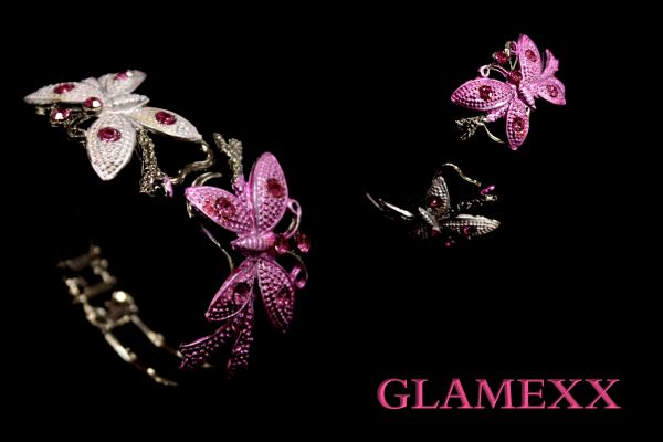 Bangles, Bracelets<br>Butterfly Pink SK-6
