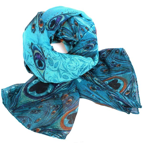 Ladies scarf shawl<br> SCARF 9D0165<br>Turquoise