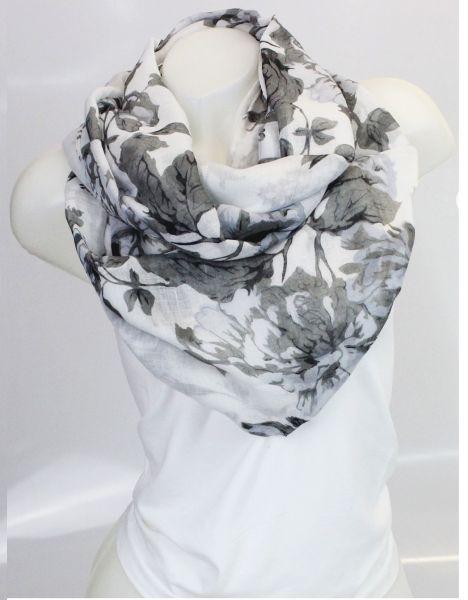 Ladies Loop scarf<br> scarf good quality<br>9D0325 White