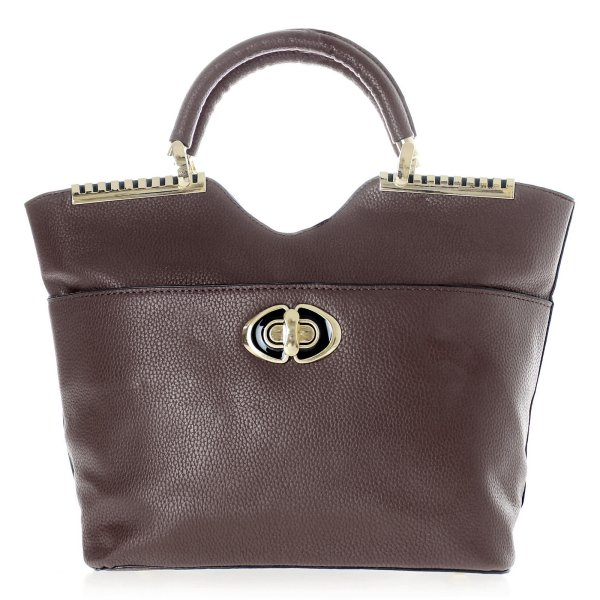 Shopper bag ladies<br> bag handbag T53<br>Dunkelbr