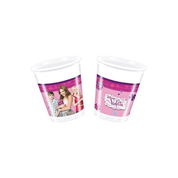 Violetta -<br> Kunststoffbecher<br>200ml 8Stk