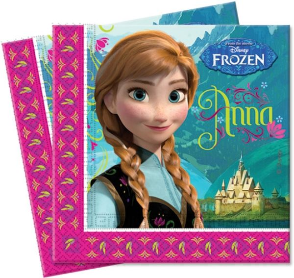 Eiskönigin /<br> Frozen - Serviette<br>20Stk 33x3