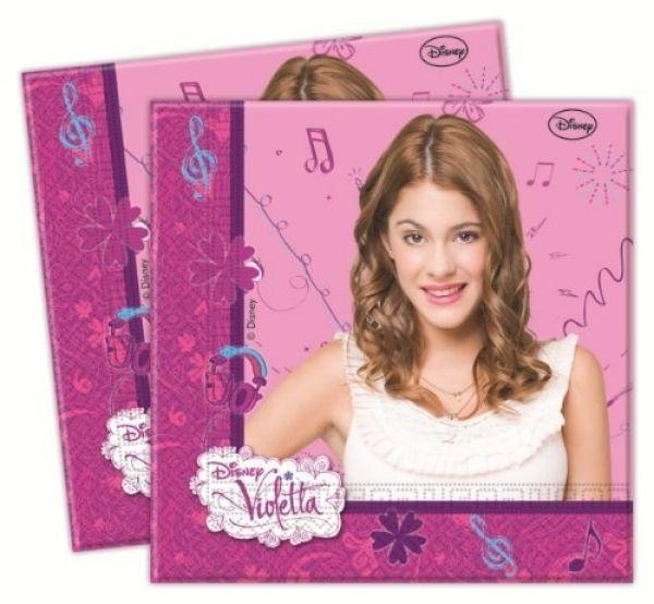 Violetta -<br> Papierserviette<br> 2-lagig 33x33cm ...