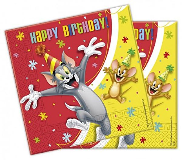 Tom and Jerry<br>-Party<br> Papierserviette ...
