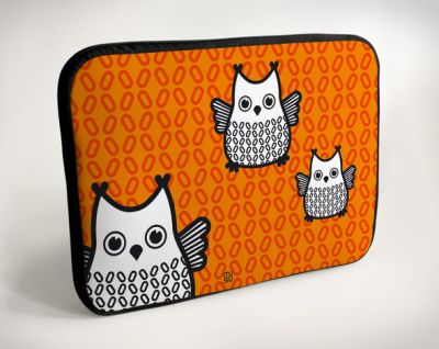 Laptop Bag - Owl -<br>10 &quot;