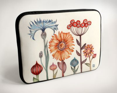 Laptop Bag - Wild Flowers - 13 ""