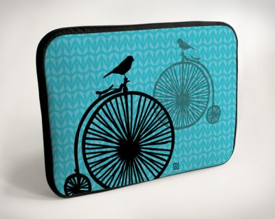Laptop Bags - by<br> bike bird sitting<br>- 15 &quot;
