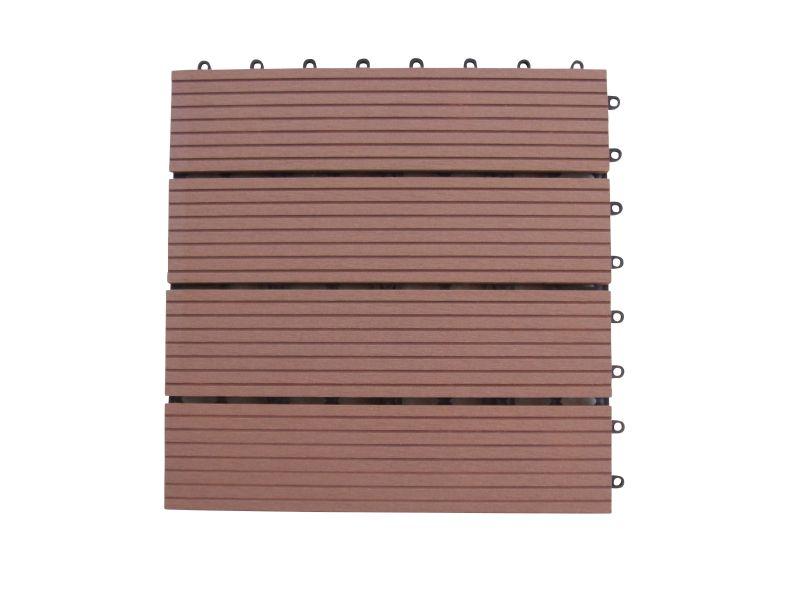 WPC Holz Fliese<br> 30x30cm, 1m² (11<br>Fliesen) braun