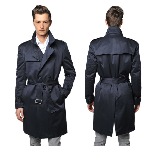 CK-Black Double<br>Breasted Trench man