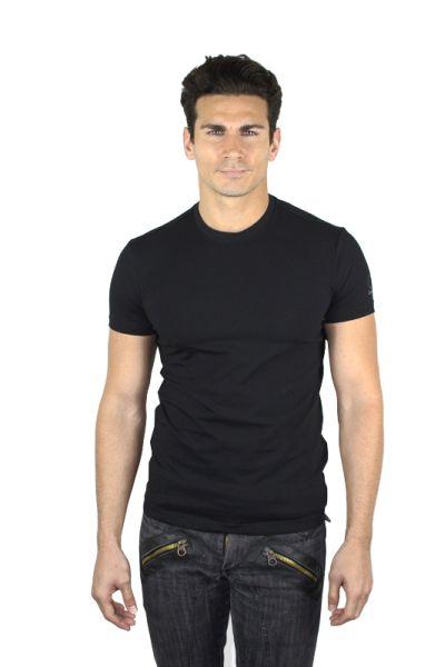 CK-fekete<br> legénység nyakú<br>póló logo váll