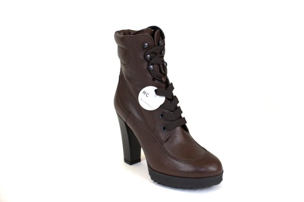 LACES BROWN BOOTS WOMEN