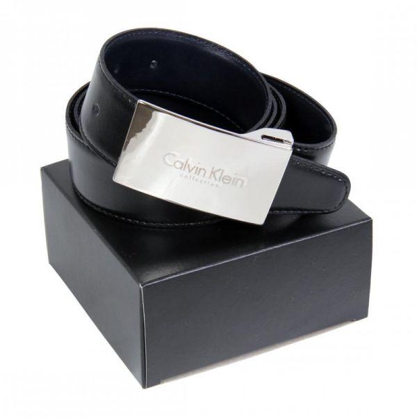 CK-black leather<br>belt duplex