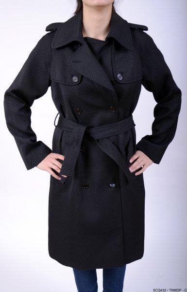 DG-Trench Coat<br>Black Woman
