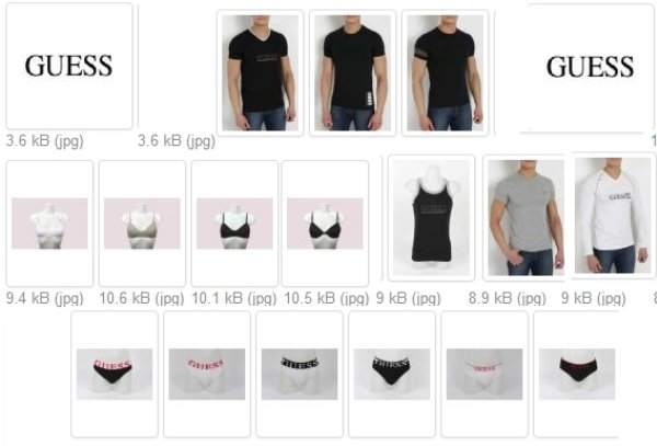 SALE GUESS Shirts<br> Underwear Bra and<br>panties only 3