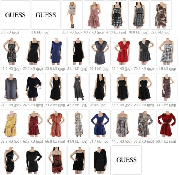 SALE Guess dresses<br> assorted sizes<br>29,90 EUR