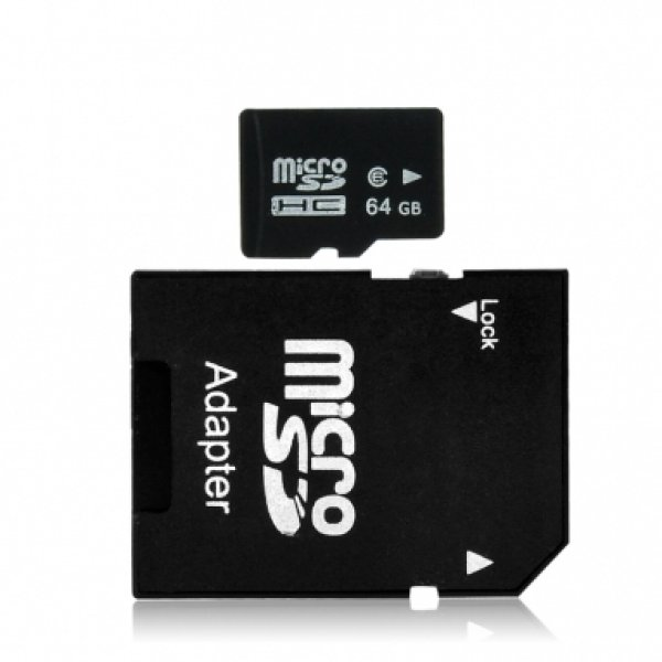 Micro SD card 64GB<br>with free SD Adapter
