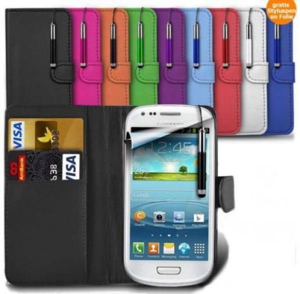 Galaxy S3 Mini Luxury leather wallet case