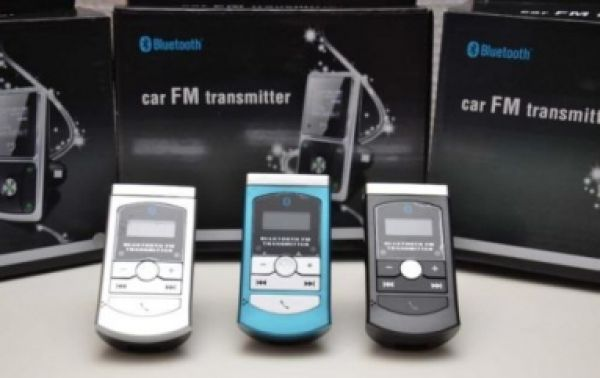 Bluetooth and FM Transmitter Car Kit
