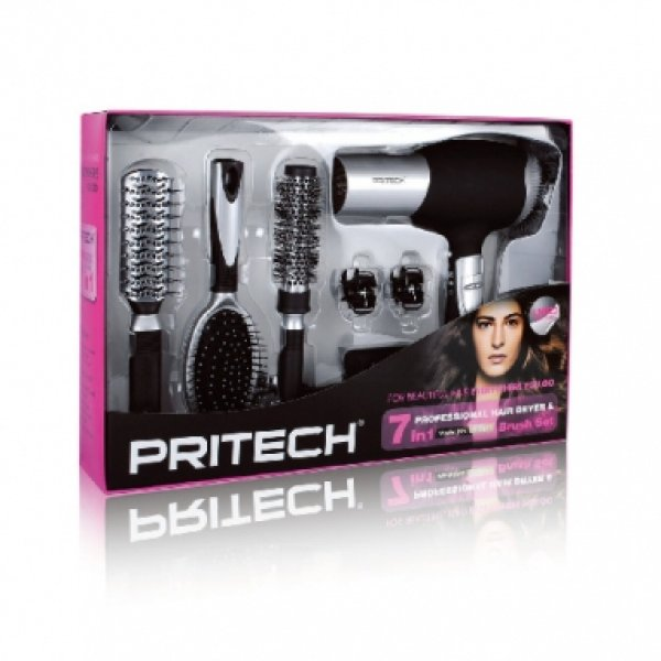 Pritech LD 6071 Professional Hair Dryer 7 Stück