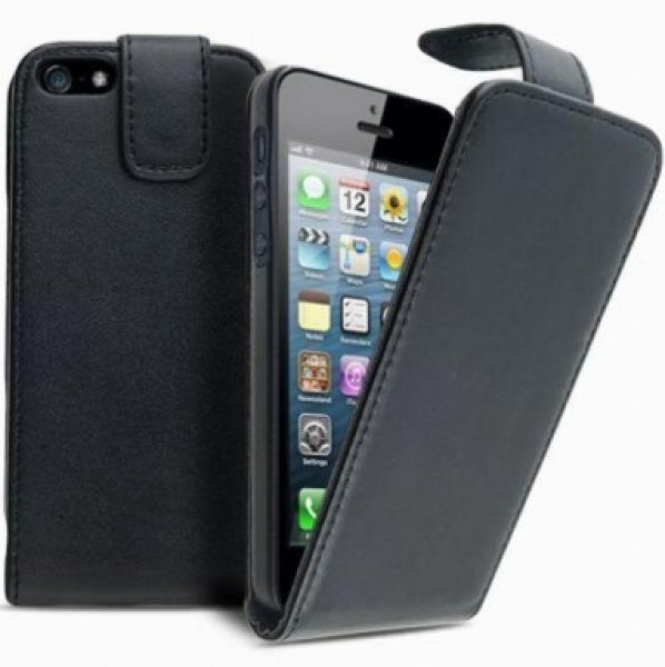 Leather Flip Case for iPhone 3/3GS Black