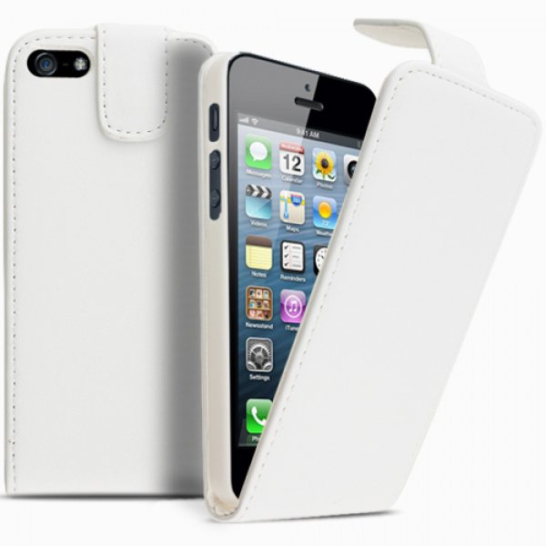 iPhone 4/4S<br>Ledertasche Weiß