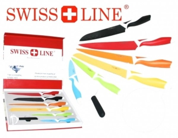 Swiss Line 7 piece<br> knife set (color<br>coating)