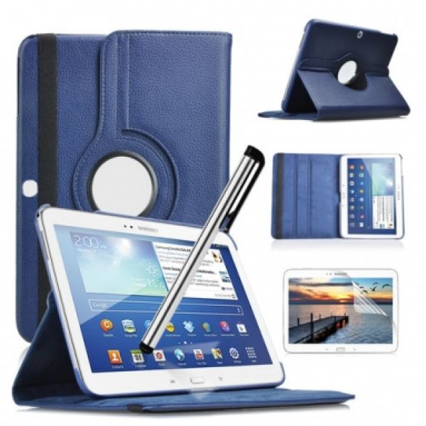 Samsung Galaxy Tab<br> 10.1 3 Rotating<br>Case Blue