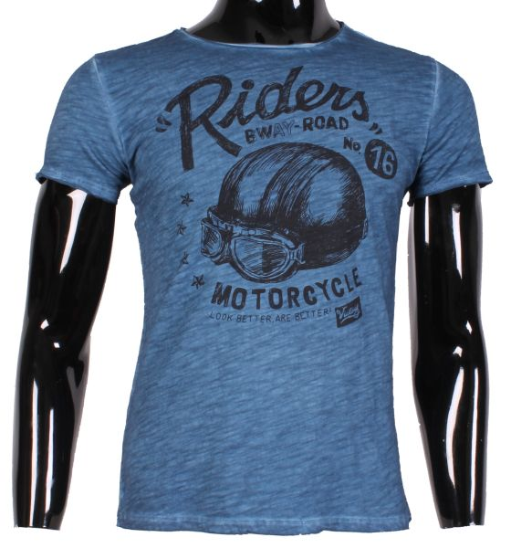 WASHED TSHIRT MEN<br> MOTORCYCLE HELMET<br>N815 LURE