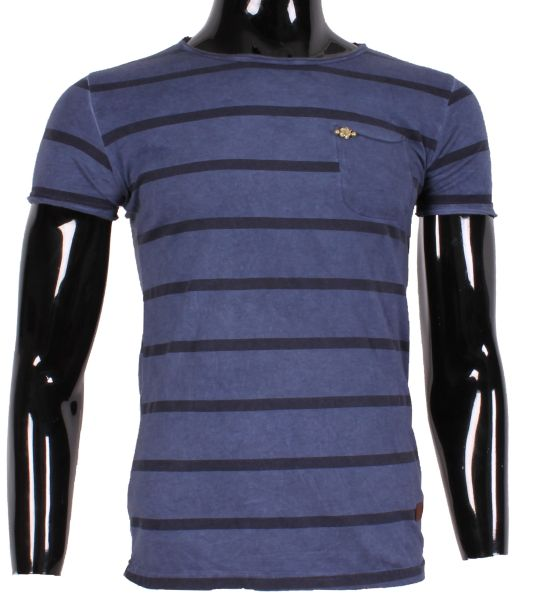 MAN TSHIRT COLOR<br> STRIPE washed<br>XFEEL XH66519