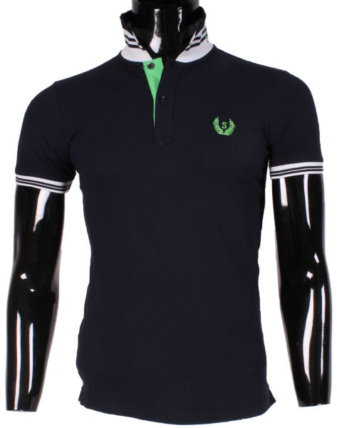 POLO MAN WITH LOGO AND SPECIAL COL LEEYO M1620