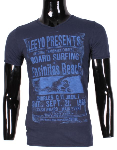 TSHIRT MEN SMALL V<br> NECK PRINTED LEEYO<br>XM1836