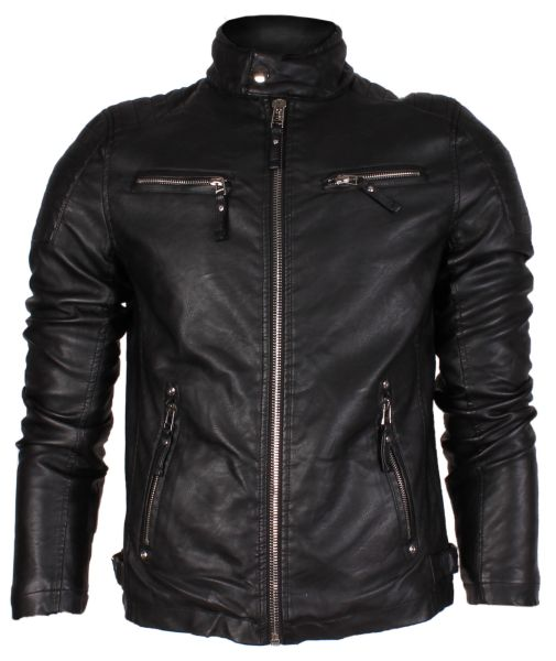 IMITATION LEATHER<br> JACKET BY ELEVEN 3<br>D678