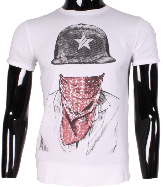 PRINTED TSHIRT MEN INVISIBLE MAN M1528 LEEYO