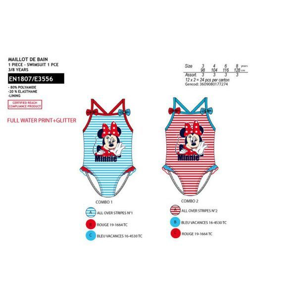 Swimsuit one piece<br> Minnie  3/8 years