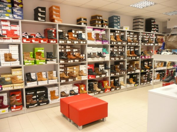 furniture for shoe store-shelves
