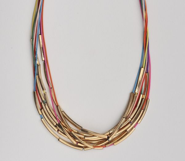 Collar<br> multicolored<br> threads - choker ...