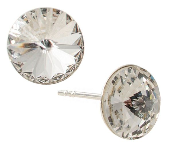 silver earrings<br> with swarovski<br>Rivoli Clear