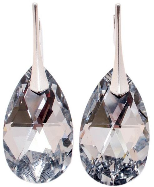 silver earrings<br> with swarovski<br>Pear CAL