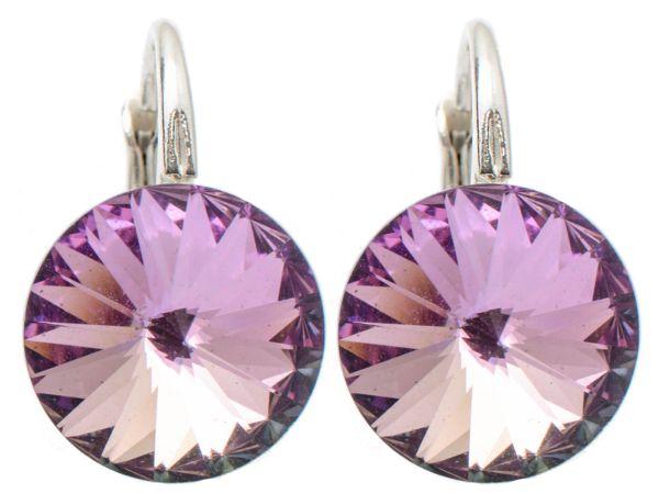 silver earrings<br> with swarovski<br>Rivoli Vitra Light