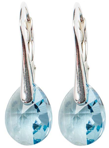 orecchini<br> d&#39;argento con<br> swarovski MiniPear ...