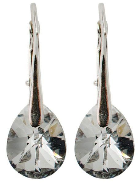 Silberohrringe mit<br> Swarovski MiniPear<br>CAL