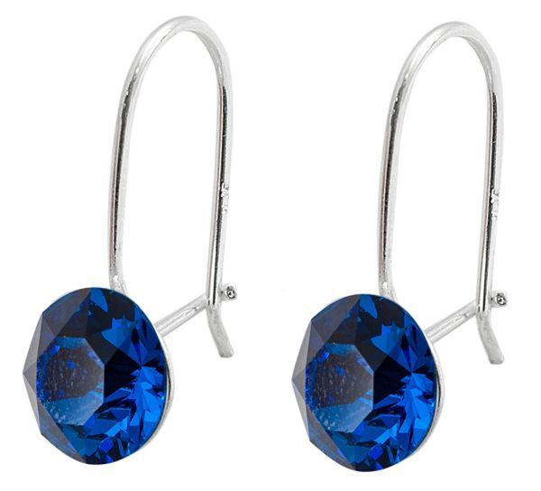silver earrings<br> with swarovski<br>Xirius Blue Capri