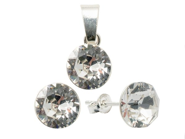 Silber mit<br> Swarovski Crystal<br>Clear Set Xirius