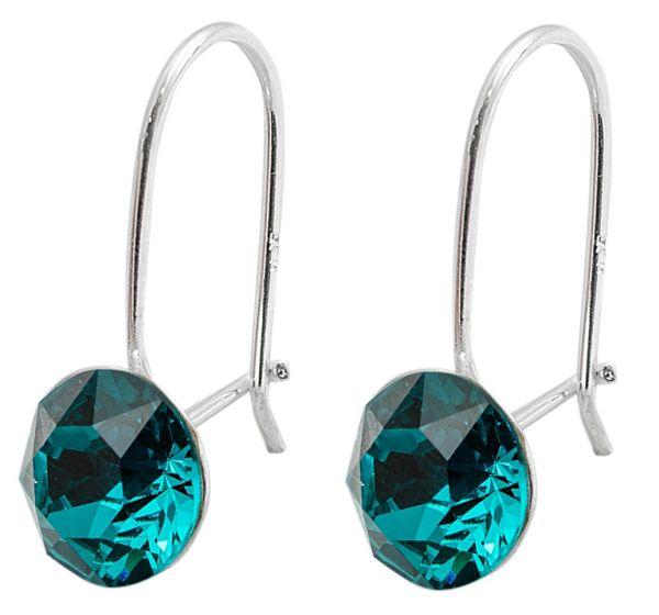 silver earrings<br> with swarovski<br>Xirius Blue Zircon