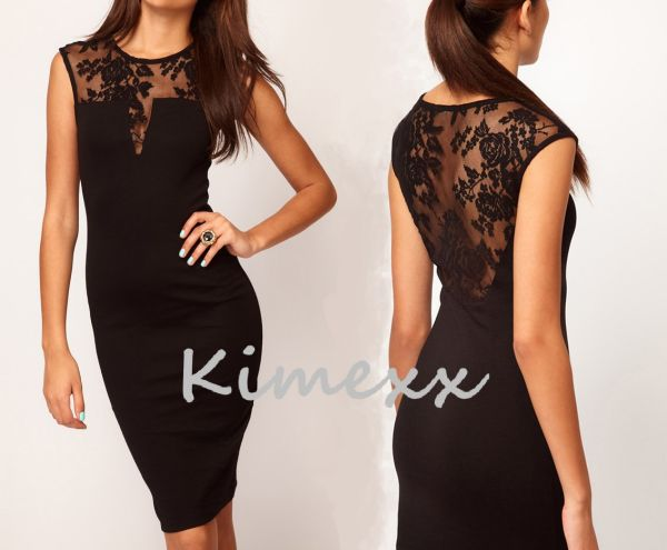 Extra Ladies Dress With Lace SML