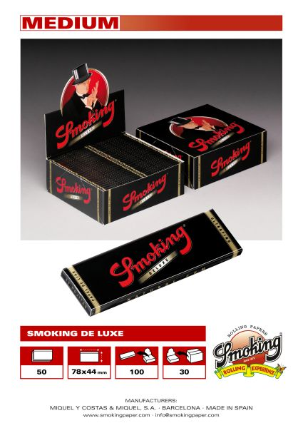 Short black smoking cigarette paper